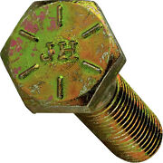 1-1/8-7 Hex Bolts Cap Screws Grade 8 Zinc Yellow 2in 3in 4in Up To 10in