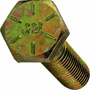 1-14 Hex Bolts Cap Screws Grade 8 Zinc Yellow 1-1/2in 3in 4in Up To 10in