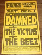 The Damned Friars Aylesbury Maxwell Hall 1 Dec1979 Original Punk Poster Flyer