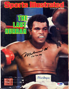 Muhammad Ali Autographed Signed Sports Illustrated Cover Vintage Psa/dna Ab08839