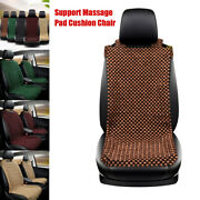 Natural Wooden Beaded Car Universal Seat Cover Support Massage Pad Cushion Chair