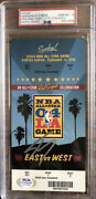 Shaquille Oand039neal Signed 2004 Nba All Star Ticket Stub🏆shaq Mvp🔥psa/dna 10 Auto