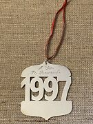 James Avery Sterling Silver 1997 A Year To Remember Christmas Ornament Retired