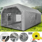 Inflatable Paint Booth Paint Tent 26ftx15ftx10ft Pvc With 3 Blowers