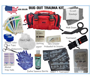 Tactical Molle First Aid Emt Trauma Kit Medic Red Bug-out Trauma Kit Ifak