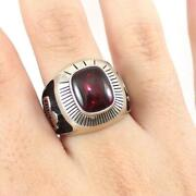 Vintage Sterling Silver Red Garnet Frito O Lay Company Class Ring Size 10 Lhj4