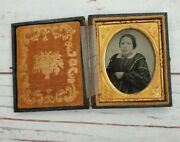 Rare Wooden Antique Ambrotypes And Daguerreotypes Vintage Picture Frame W/photo