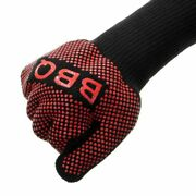 Bbq Gloves Heat Resistant Barbecue Grill Glove Mitts Silicone Insulated Baking