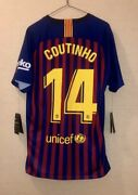 Nike Menand039s Fc Barcelona 2018-19 Coutinho Home Jersey Bv6143-460 Adult M