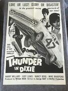 Thunder In Dixie 1965 Orig. 1 Sheet Movie Poster 27x40 F+ Heavy Stock Poster