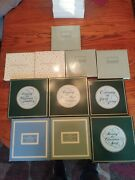 Avon Christmas Plate Collection 1979-2003 Original Boxes In Great Condition