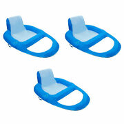 Swimways Xl Spring Float Recliner Water Summer Relaxation Lounge Seat 3 Pack
