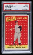 1958 Topps Sport Magazine And03958 All Star Selection Mickey Mantle 487 Psa 6 Hof