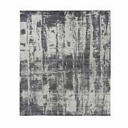 8and0391x10and039 Wool And Plant Based Silk Jacquard Hand Loomed Modern Design Rug R62255