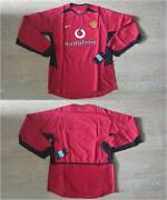 M Manchester Shirt Jersey Long Sleeve L/s Code 7 Player Issue