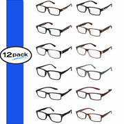 Reading Glasses Mens Bulk Lot 12 Pack Assorted Style Wholesale Quality Readers