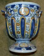 Maiolica Or Majolica Vase/vessel Bowl 8x8x6 Italy Marked Levantino Age Unknown