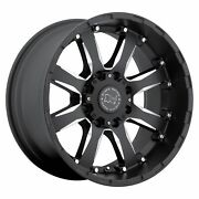 22x11.5 Black Rhino Sierra 8x6.5/8x165.1 -44 Black Milled Wheels Rims Set4 122