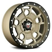 Mamba M26 Wheels 17x9 12 5x139.7 108.1 Yellow Rims Set Of 4