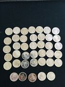 Roll Of 40 1965 Canadian 80 Silver Quarters Gem Proof Like