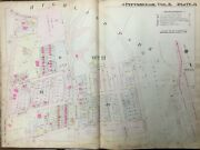 1911 Pittsburgh Pa Highland Park To Wellesley Av And N. Highland Avenue Atlas Map