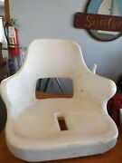 Todd Marine - White Molded Plastic Helm Seat / Captains Chair Boat - Used