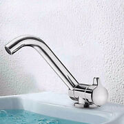 Caravan Faucet Home Kitchen 360anddeg Rotation Tap Silver Polished Copper W/hoses New