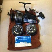 [excellent +++++] Abu Cardinal 57 Spinning Reel With 2 Spare Spools From Japan