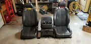 Leather Bucket Truck Seats Including Jump Seat - Possibly Gm