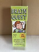 Brain Quest Ages 2-3 My First - 350 Questions To Build Vocabulary - New Sealed