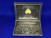 Edgar Berebi Limited Edition Envelope Trinket Box From Me To You Ps I Love You