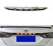 Accessories Black Rear Door Trunk Led Tail Light Trim For Toyota Camry 2018-2021