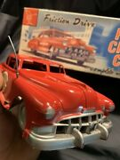 Louis Marx Of Swansea Friction Drive Fire Chief Car In Original Box Htf.