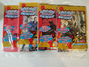 4 Sealed 2 Count Value Packs Super Hero Comic Book Spectacular Cards One Mg