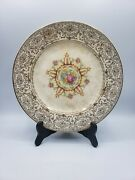 Paden City Pottery Co. 11 Plate 22k Decorated Roses And Multicolor Floral