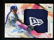2020 Topps Inception Hat New Era Logo /5 Gavin Lux Rpa Rookie Jumbo Patch Auto