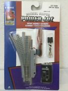 Walther Lifelike N Gauge Nickel Silver Power-loc Left Hand Switch Track New