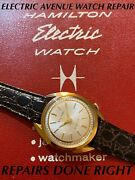 1960andrsquos Vantage By Hamilton Electric Watch-refurbished 130e New Contact-warranty