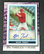2021 Topps Through The Years Mike Trout 2009 Bowman Chrome Tty-28 Reproduction