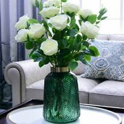Household Tabletop Ornaments Flower Vase Crafts Vintage Style Glass Material New