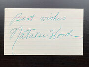 Natalie Wood Autograph Auto Rebel Without Cause West Side Story Miracle 34th St