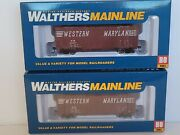 Walthers Mainline 1773 1774 Western Maryland 40and039 Aar1948 Boxcar Ho Mib Set 2