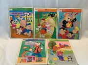 Vintage Lot Of 5 1968-1976 Whitman Frame Tray Puzzles