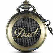 Mens Antique Dad Pocket Watches, Chain Pendant, Fathers Day