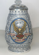 """Harley-davidson 2000 Collector Lidded Beer Stein """"it's The Journey """""""