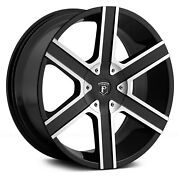 Pinnacle P92 Gallant Wheels 20x9 15 5x120.65 74.1 Black Rims Set Of 4
