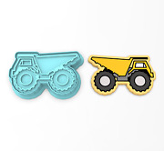 Dump Truck Cookie Cutter And Stamp 1  Construction Work Site Machine Tyrant