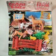 Imperial Farm Animals Playset - 14 Animals And 15 Scenery Pieces Set New