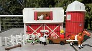 Vintage Fisher Price Little People Play Family Farm 2501 Silo Moo Barn Animals