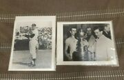 Lot Of 2 Vintage 8 X 10 Photos Mickey Mantle And Dave Keon Stanley Cup Photo